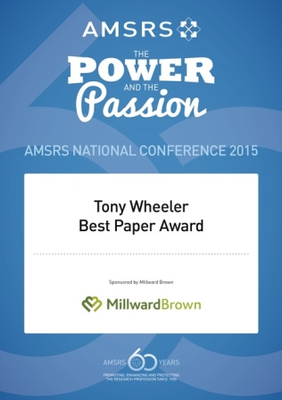 Tony Wheeler Best Conference Paper