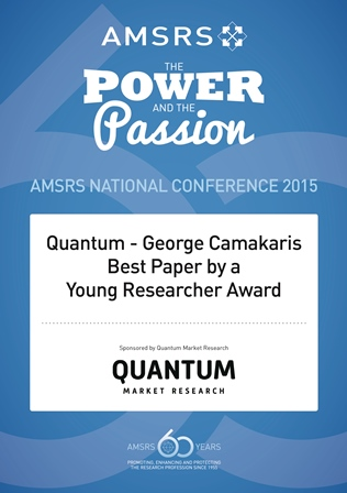 George Camakaris Best Paper by a Young Person